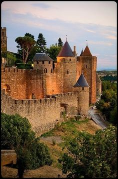 "✯ Carcassonne, France ✯ Seriously cool medieval city in France. You feel like you've gone back in time. Also happens to have one of the coolest churches I've ever seen. Go during July 14. Bastille day and watch them ""burn the city"" so cool, I want to go back!"