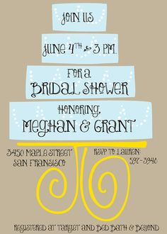 bridal shower. So cute @Erica Shoulders you should pin this :)