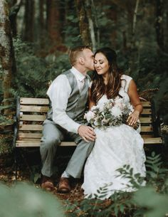 Wedding nestled in the woodlands of Washington | Image by Anni Graham Photography