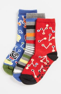 Nordstrom 'Science Experiment' Crew Socks (3-Pack) (Toddler Boys & Little Boys) | Nordstrom