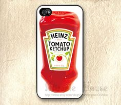 iPhone 4 case,Sauce iPhone 4s/4g Cases, Tomato Ketchup iPhone 4s case, iPhone 4s case, iPhone 4G Hard Case, iPhone cases. $8.99, via Etsy.