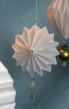 origami Plissee anhänger dramaqueenatwork
