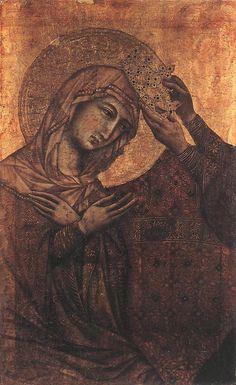 Coronation of the Virgin  - Duccio di Buoninsegna -