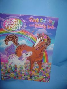 Lisa-Frank-Giant-Coloring-and-Activity-Book-Friends-Forever-8-1-2-x-11-New