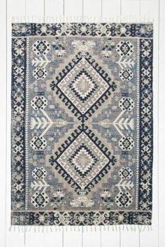 "Kelim-Teppich ""Hana"" in Blau, 5 x 7 Fuß"