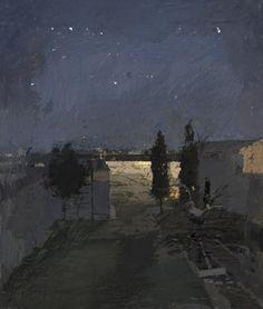 Tomelloso, garden at night -    Antonio López García  1980   Spanish b.1936-