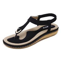 MoneRffi Sandals Women Colorful Backless Slipper Sandles Anti Slip Orthopedic Vintage for Ladies Girl Plus Size Summer Sandal