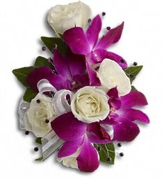 Send prom flowers from a real Smithfield, RI local florist. Simply Elegant Flowers has a large selection of gorgeous floral arrangements and bouquets. We offer same-day flower deliveries for prom flowers. Blue Boutonniere, Prom Corsage And Boutonniere, Rose Corsage, Corsage Wedding, Wedding Bouquets, Boutonnieres, Prom Flowers, Wedding Flowers, Send Flowers