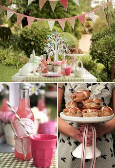 Vintage Easter brunch with free printables