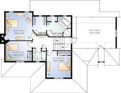 Second Floor Plan of Country   Farmhouse  House Plan 65135