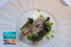 Poached Gigha halibut, smoked almond pesto and Seaweed butter sauce recipe by professional chef Matt Worswick