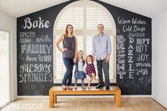 Another great holiday family photo! Nice use of the chalkboard!    A Few Recent 2012 Families | Leif Brandt Photography