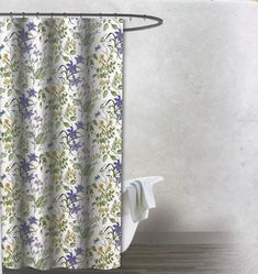 $44.79 Envogue Muted Color Floral Wildflower Vintage Shower Curtain | vintage shower curtain french country | vintage shower curtain ideas | #vintage