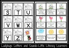 Ladybugs Letters and Sounds from LittleLiteracyLearners on TeachersNotebook.com (9 pages)