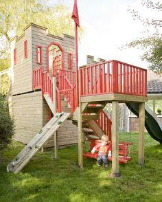 Castle playhouse, garden playhouse, playhouse outdoor, build a playhouse, p Castle Playhouse, Garden Playhouse, Build A Playhouse, Playhouse Outdoor, Kids Play Spaces, Outdoor Play Spaces, Outdoor Fun, Cubby Houses, Play Houses