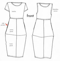 Eva Dress Pattern - Print At Home or Copy Shop (PDF) - Patterns - Tessuti Fabrics - Online Fabric Store - Cotton, Linen, Silk, Bridal & more...