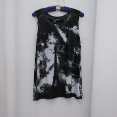 """NWT Eiffel Tower Print Tank Soft & flowy,  small side slits at hem. Printed on front & back. Measured flat 18"""" across bust 27"""" long Mani is 36"""" x 31"""" x 36"""" Poly Wet Seal Tops Tank Tops"""