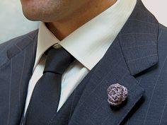silk rose lapel pins for the dapper gentleman