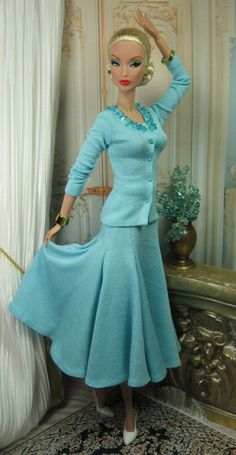 A beautiful aqua knit ensemble by Matisse.