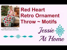 Retro Ornament Throw Crochet Pattern | Red Heart