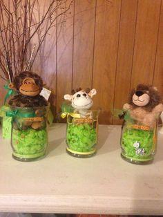 safari centerpieces baby shower pinte