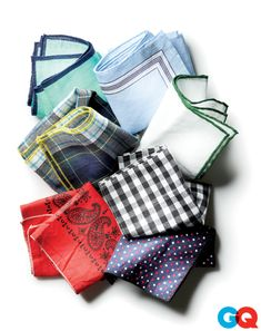 The 6 Pocket-Square Commandments 1. These are strictly for show. 2. Shiny silk pocket squares are out of style. 3. $180 on cashmere can look just as good if you spend only $8. 4. Try wearing a square that echoes a color in your shirt or tie. If your plaid tie has a subtle red stripe in it, maybe go for a square that has red tipping. 5. Bulge too much? Refold it or get a smaller square. 6. Its okay to spend two or three minutes in front of your mirror fiddling with your square.