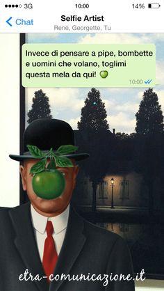 Selfie artist dedicato a René François Ghislain Magritte (Lessines, 21 novembre 1898 – Bruxelles, 15 agosto 1967) #selfie #arte #selfieartist #magritte #belgio #venezia #imperodelleluci #figliodelluomo #PeggyGuggenheimCollection #chat #whatsapp #social #socialnetwork #fotografia #MuseumSelfie