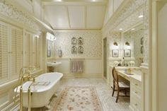 french country bathrooms by design French Country Bedrooms, French Country House, French Country Decorating, Country Bathrooms, Traditional Interior, Traditional Bathroom, Ideas Dormitorios, Bathroom Interior Design, Tub