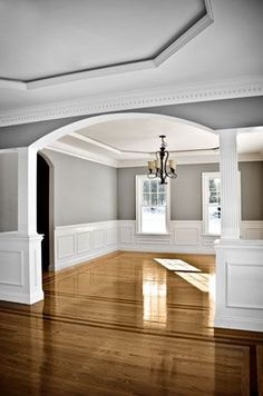 Classic molding and wainscoting