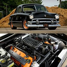 """O.M.G!! A 51 Ford Club Coupe with a 5.4 GT500 motor. Hooked to a 6 speed manual and a 9"" with 3.70 gears. Photos by @mcgaffindigitalphoto…"""