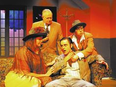 """""""My God, he's dead!"""" in Agatha Christie's """"And Then There Were None.""""  photo via Las Vegas Review-Journal"""