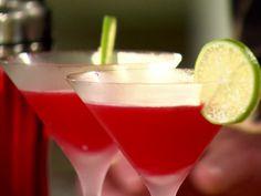 Yummy raspberry, orange vodka drink from Ina Garten (Barefoot Contessa)