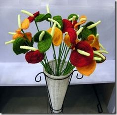 FLOWERS PATTERNS-CROCHET (MODELE FLORI CROŞETATE)