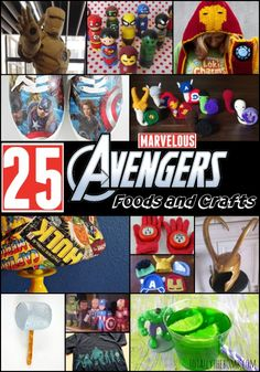 Marvelous Avengers Foods and Crafts