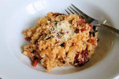 Savoir Faire: Risotto de tomates secos y albahaca fresca