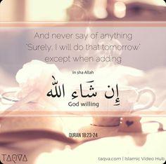 With God will..In Syaa Allah