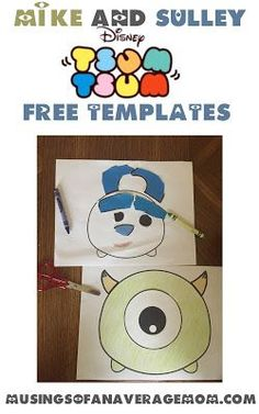 Free printablr Monsters Inc. Monsters Inc Crafts, Mike And Sulley, Third Birthday, Preschool Crafts, Toddler Activities, Printables, Templates, Mom Blogs, Disney