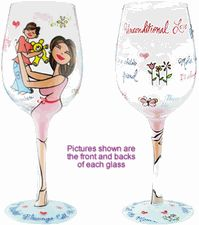 Motherly Love Boy Wine Glasses are wonderful gifts for mom of new baby boy. Baby shower gifts for mom and for her new baby son that are unique and practical give mom pleasure. Designed by 95 & Sunny, #BottomsUpWineGlasses are available at Favors n Bridal. Also available: Motherly Love Wine Glass for Baby Girl. $14.95 - $19.45
