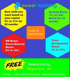 Power Hashing Welcomes All to be a part of big big opportunity!!  Power Hashing helps people to get full awareness on CryptoCurrency and profit they can earn by using the same.!  Join us now on  https://www.powerhashing.com/powerhashing  More Power! More Freedom!  #Bitcoin #ADCN #bitcoinmining #cryptocurrency #digitalcurrency #networkmarketing #powerhashingindia #powerhashingsolutions #sakshisinha #internetmarketing #Powerhashing