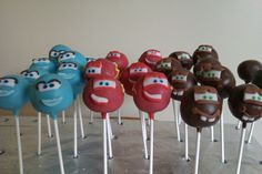 Disney cars cake pops by www.cakethatbakery.com