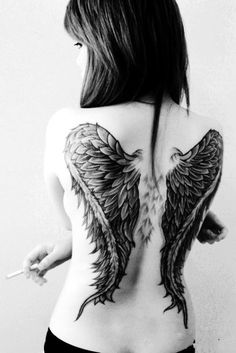 Cool Wings Girls Tattoo - LoveItSoMuch.com