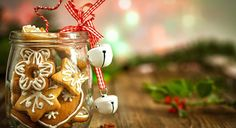 """""""Christmas Cookies in a jar on Wooden background with Christmas Holly"""" created by circleps Christmas Eve Box, A Christmas Story, Christmas Photos, Christmas Cookies, Xmas, Christmas Ornaments, Surprise Images, Christmas Eve Traditions, Cookie Images"""
