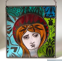 Painted glass, soldered with lead edge.by Carole Robinson Lead Edge, Stained Glass, Glass Art, Traditional, Painting, Jar Art, Painting Art, Paintings, Stained Glass Panels