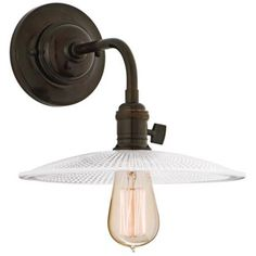 Heirloom Old Bronze Textured Glass Wall Sconce - #T6476 | LampsPlus.com