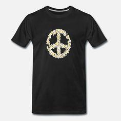Peace - Gänseblümchen Männer Premium T-Shirt Pullover, Mens Tops, Fashion, Kleding, Moda, Fashion Styles, Sweaters, Fashion Illustrations, Sweater