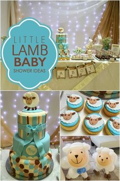 Little Lamb Boy Baby Shower Idea