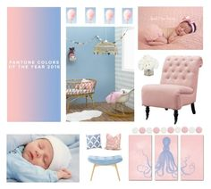 """Rose Quartz & Serenity Nursery"" by foreverstrawberrydr ❤ liked on Polyvore featuring interior, interiors, interior design, home, home decor, interior decorating, Nails Inc., Serena & Lily, Ethan Allen and serenity"