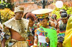 First off we would start with South Africa weddings by looking into the Zulu tribe. The Zulu tribe are Bantu ethnic group of South Africa, Zulu Traditional Attire, Zulu Traditional Wedding, Traditional Outfits, South African Weddings, African American Weddings, Zulu Wedding, Wedding Ceremony, Tribal Looks, African Print Fashion