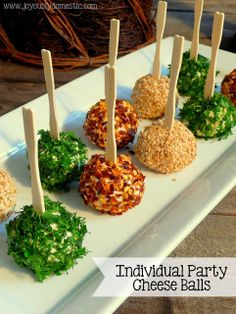 Joyously Domestic | Individual Party Cheese Balls