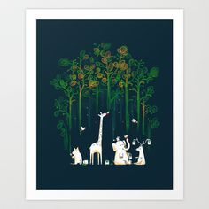 Re-paint the Forest Art Print by Budi Satria Kwan - $19.97